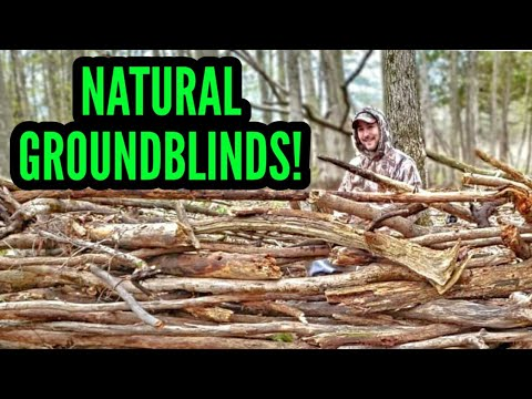 How To Build NATURAL GROUND BLINDS For Hunting!
