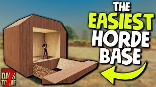 7 Days to Die: The EASIEST ZOMBIE-PROOF HORDE BASE for ALPHA 18!   7 Days to Die Alpha 18 Gameplay