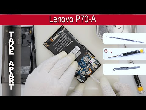 How to disassemble 📱 Lenovo P70 -A Take apart Tutorial
