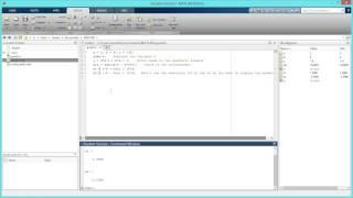 كيفية إنشاء برنامج نصي على الدرجة الثانية الصيغة في MATLAB. [HD]