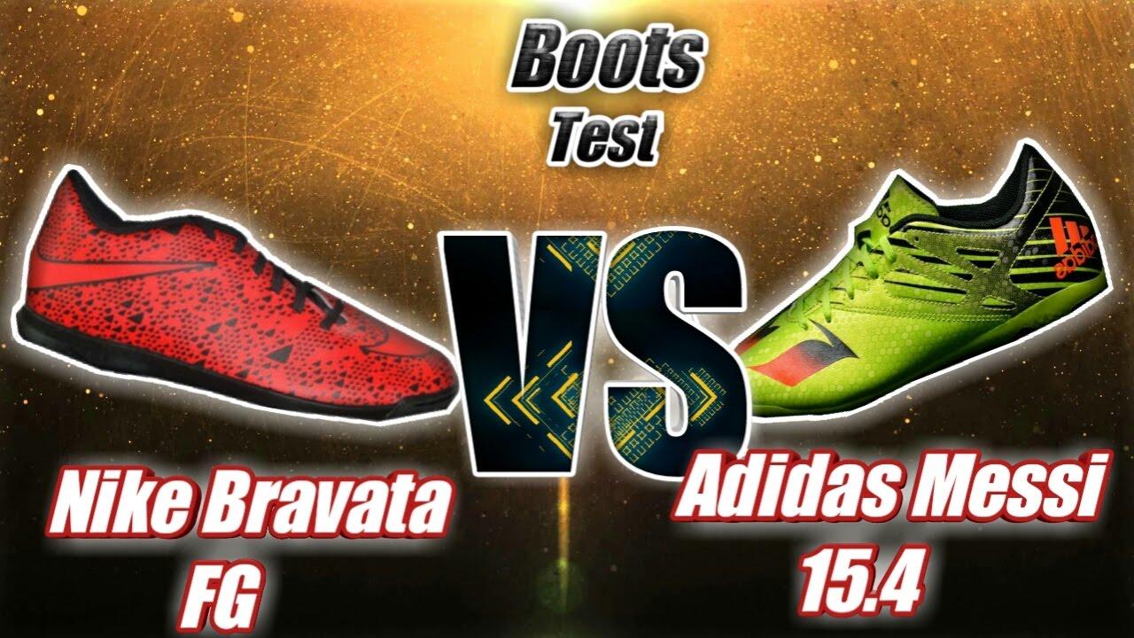 6d102f45a Adidas Messi 15.4 Vs Nike Bravata FG Boot Test Challenge. - YouTube