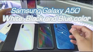 Samsung Galaxy A50 White, Black and Blue color