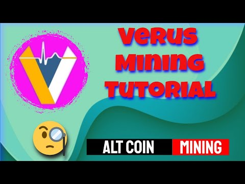 Verus | CPU Mining | VerusHash ALGO | Bitcoin Friday's 💲
