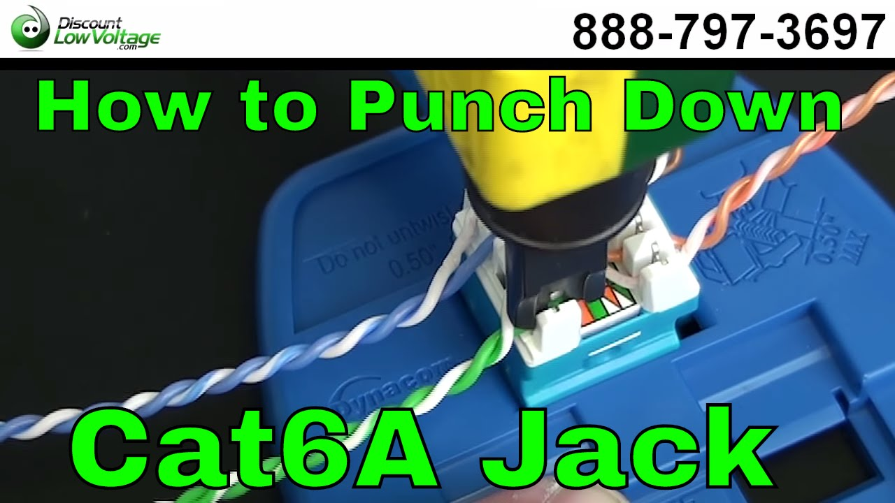 How to Punch Down a RJ45 Cat6A Keystone Jack  YouTube
