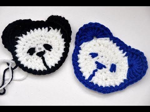 Häkeln Teddy Kopf Für Kinderpulli Panda Youtube