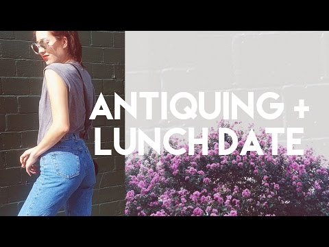 Come Along: Antique Shopping & Lunch Date Vlog + OOTD