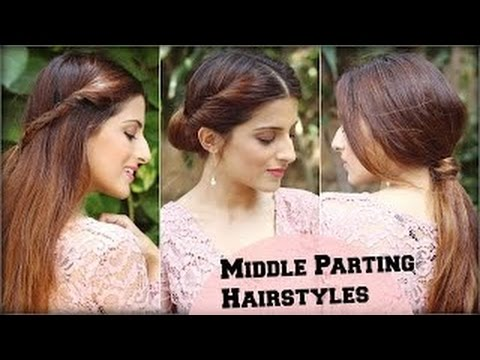 3 Cute Easy Everyday Middle Partition Hairstyles For School