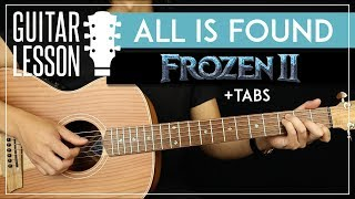 All Is Found Guitar Tutorial Frozen 2 ❄ Kacey Musgraves Guitar Lesson Fingerpicking + TAB