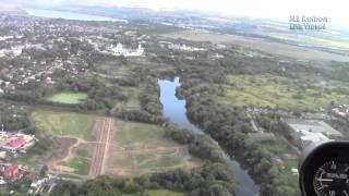 Съёмка С Вертолёта города Серпухов и реки Ока. Helicopter Flight Over City And River