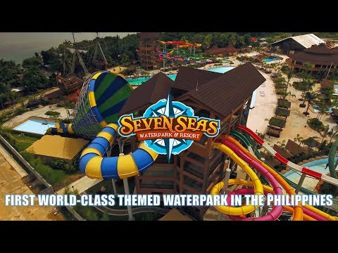 Philippines' First World-Class Themed Waterpark Aerial Survey 4K