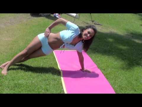 Hot Models Bikini Workout at a park v27