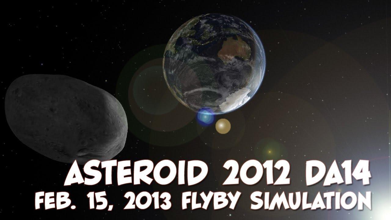 Asteroid 2012 DA14 - NASA Eyes on the Solar System - YouTube
