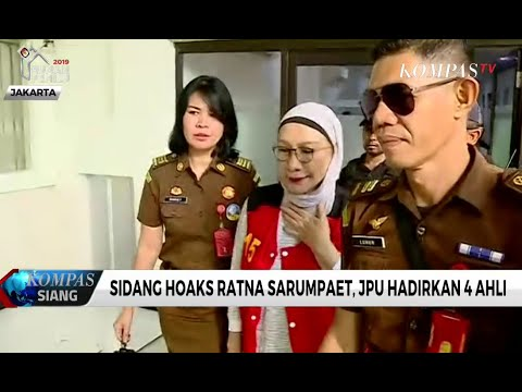 Jaksa Hadirkan 4 Ahli di Sidang Ratna Sarumpaet