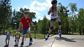 Дети 8-14 лет. Фристайл слалом, фрискейт, фигурное, скоростной слалом, слайды на роликах
