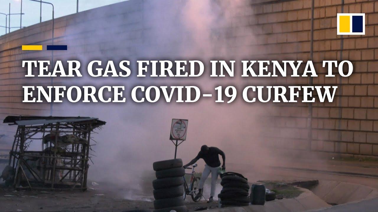 Police in Kenya use tear gas to enforce coronavirus curfew | South ...