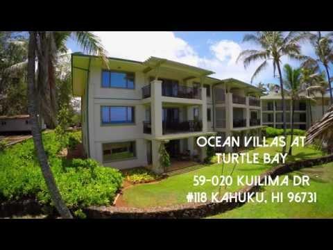 Ocean Villas Beachfront condo For Sale in Hawaii