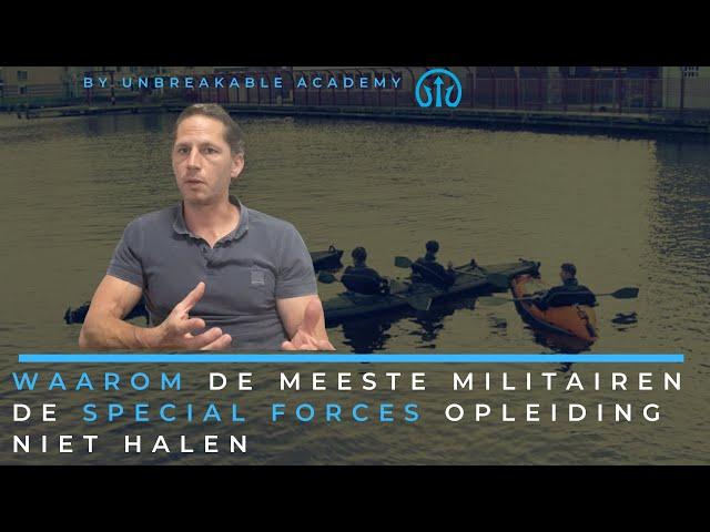 Waarom de meeste militairen de Special Forces opleiding niet halen