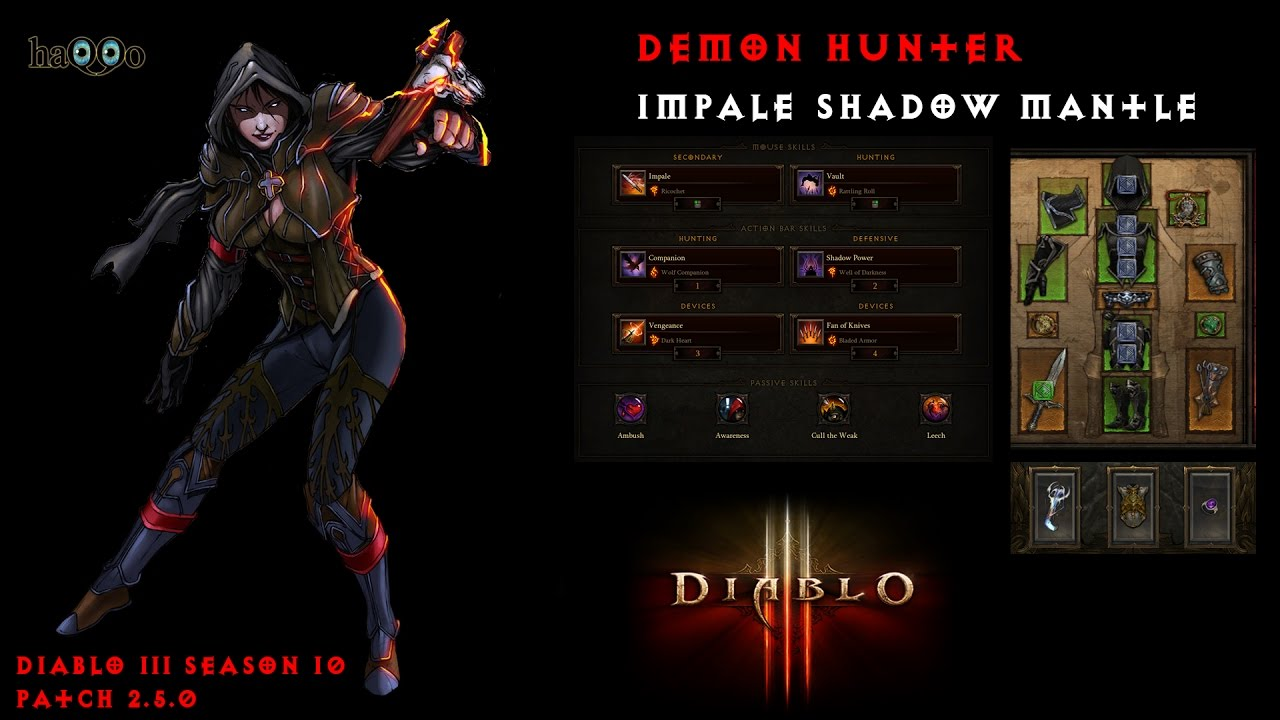Diablo  Season  Demon Hunter Shadow S Mantle Build