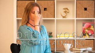 """Office Yoga """"Die Wechselatmung"""" by Samana Yoga"""