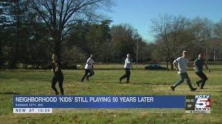 Neighborhood kids still playing football 50 years later