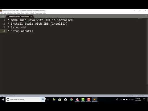 Setup Spark Development Environment – IntelliJ and Scala