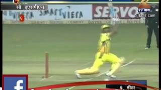 Zee24Taas: champions league : mahendrasingh dhoni, 5 six in 1 over