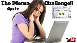 The Mensa IQ Test Challenge! Mensa Sample Test Questions 🙄Quiz