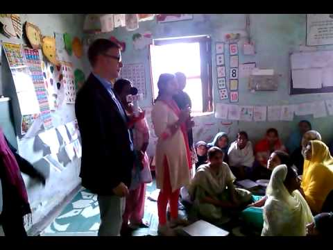 Canada's Deputy High Commissioner to India Jess Dutton meets students at NGO in Patna