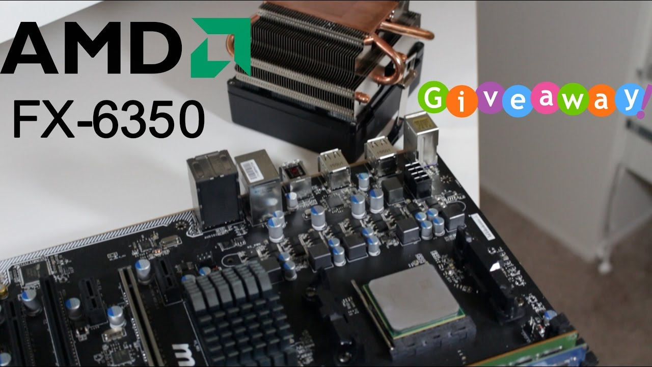 AMD FX 6350 w/ Wraith Cooler Review! + Giveaway!