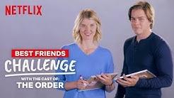 The Order Best Friends Challenge | Jake & Sarah (Jack and Alyssa) | Netflix