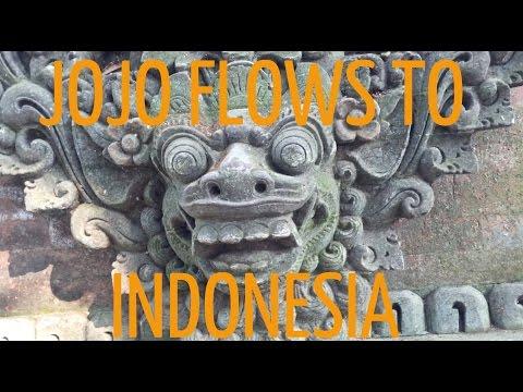 JOJO FLOWS TO INDONESIA , monkeys , hot springs , bali fruit fest