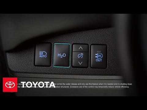 The Toyota Mirai l H20 Release Button   Toyota