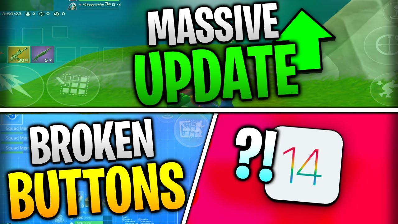 Fortnite Mobile News | Massive Update, Broken Buttons, Apple Devices Ruined, AND MORE!