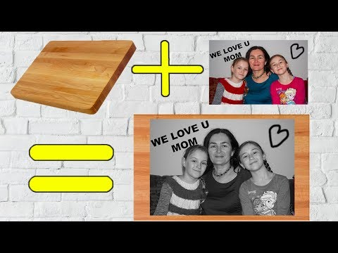 How to transfer your photo to wood-DIY wooden picture