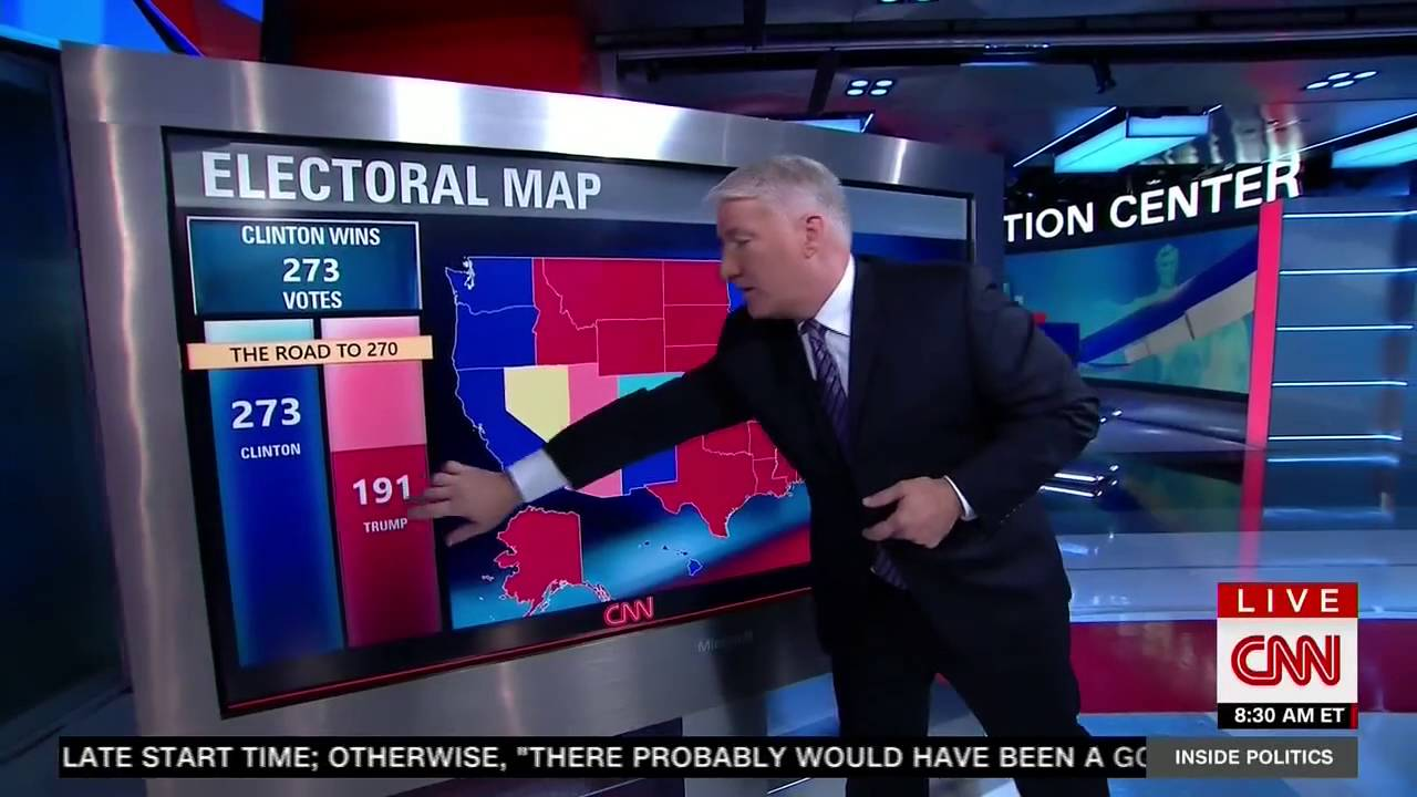 CNNs John King Highlights How Recent Polls Have Shaken Up The - Us poll live map