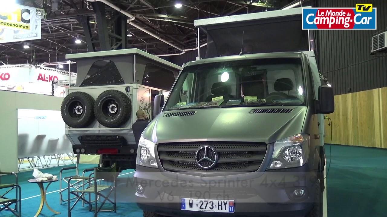 impressionnant camping car d 39 aventure globe traveller globe 360 4x4 mercedes sprinter youtube. Black Bedroom Furniture Sets. Home Design Ideas