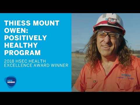 NSW Mining HSEC Conference 2018 - Winner - Health Excellence