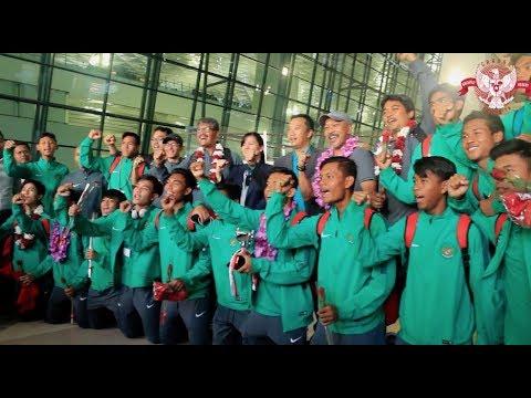 Pulang dengan Gelar Juara Turnamen Jenesys di Jepang, Timnas U-16 Disambut Hangat di Tanah Air