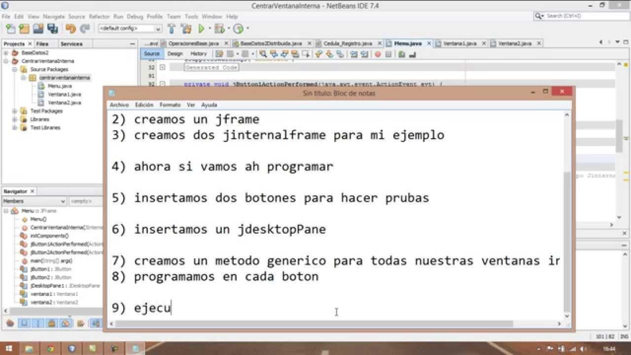 Centrado de JinternalFrame Dentro de un JFrame usando JDesktopPane ...