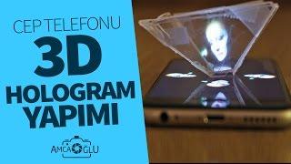 Cep Telefonları İçin Hologram Piramit Yapımı (Kendin Yap)