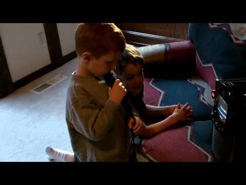 Waylon Oland sings karaoke