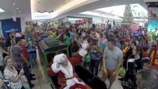 Chegada Papai Noel Londrina Norte Shopping 2014