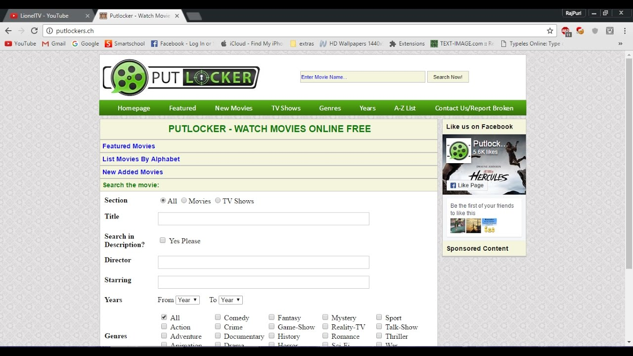 Error Loading Media Send in Not Found On Putlocker
