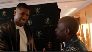 Download WHEN ANTHONY JOSHUA MET FLOYD MAYWEATHER JR! (FOOTAGE) Mp3 and Videos
