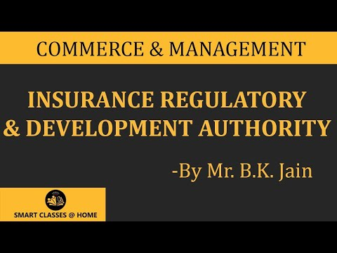 IRDA (Insurance Regulatory and development authority) Lecture, BBA, MBA by Mr. B.K. Jain.