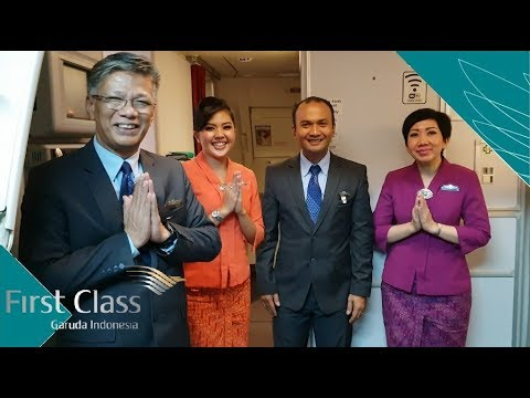 #40 First Class Domestik Garuda Indonesia menuju Denpasar Bali