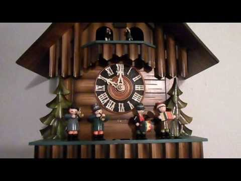 Antique Black Forest Germany Musical Cuckoo Clock with 4 Couples Dancing and Oompah Band Members
