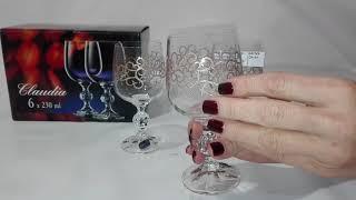 Бокалы для вина Bohemia Claudia 230мл-6шт b40149-Q9144 - обзор