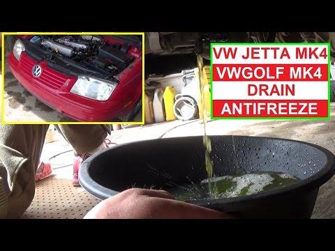 How to Drain the Antifreeze Coolant on VW JETTA ML4 GOLF MK4 1999 - 2005