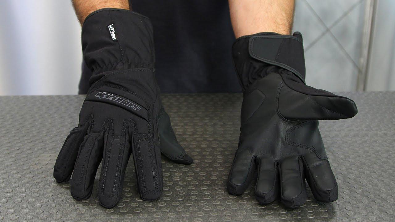 Motorcycle Alpinestars SR-3 Drystar Gloves WP Black S